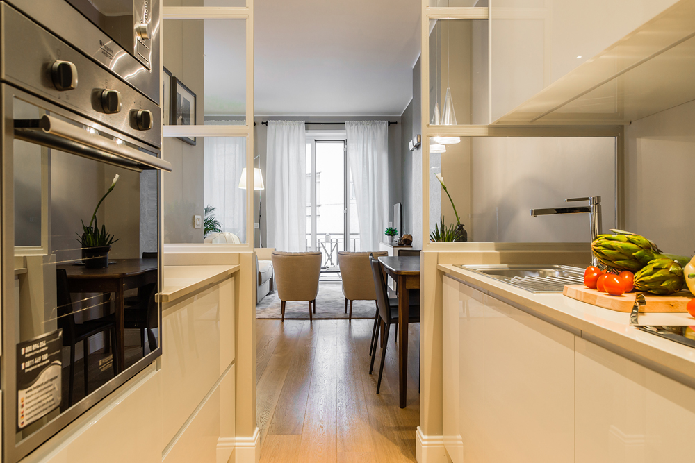 Cucina moderna dai tocchi classici interior design district en rose