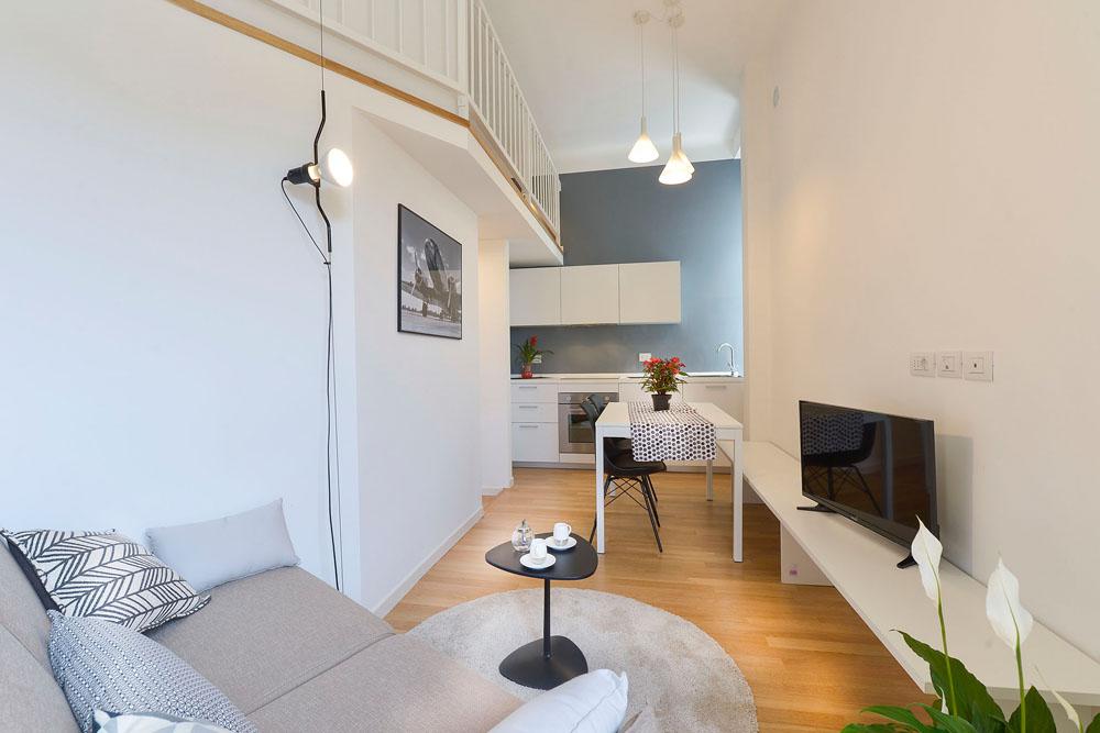 Soggiorno moderno interior design district en rose