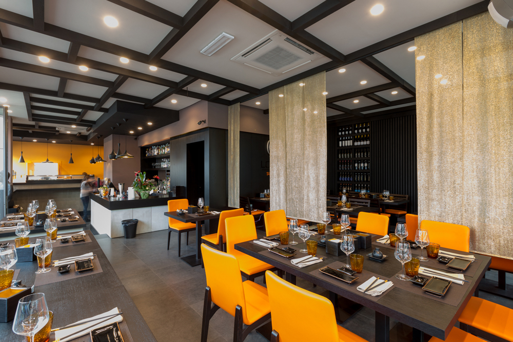 sala da pranzo sushi bar restaurant interior design district en rose