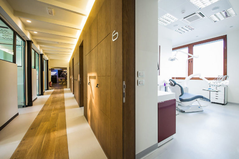 corridoio riuniti studio dentistico interior design district en rose