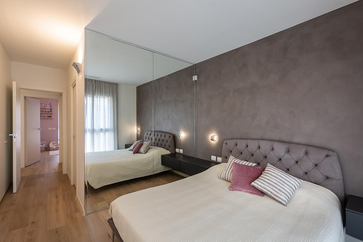 Casa di nuova costruzione a Milano_camera matrimoniale