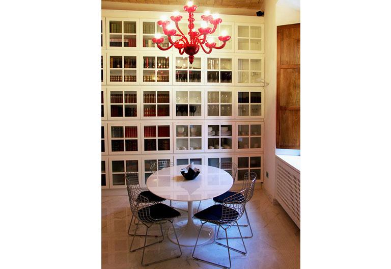 Ristrutturazione di una Casa di Design a Roma_Sala da Pranzo