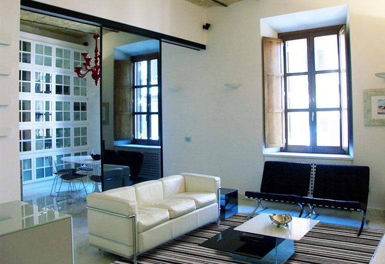 Ristrutturazione di una Casa di Design a Roma_Living