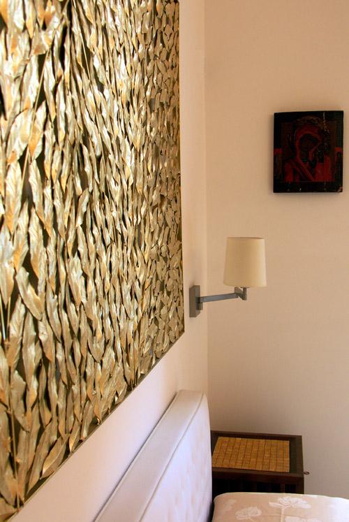 Ristrutturazione di una Casa di Design a Roma_dettaglio camera padronale
